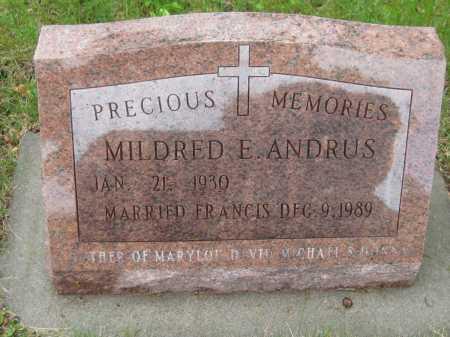 ANDRUS, MILDRED E. - Saline County, Nebraska | MILDRED E. ANDRUS - Nebraska Gravestone Photos