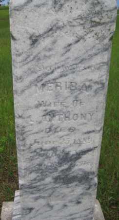 ANTHONY, MERIBA - Saline County, Nebraska | MERIBA ANTHONY - Nebraska Gravestone Photos