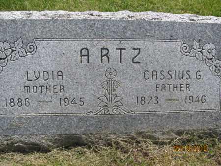 ARTZ, CASSIUS GREGG - Saline County, Nebraska   CASSIUS GREGG ARTZ - Nebraska Gravestone Photos