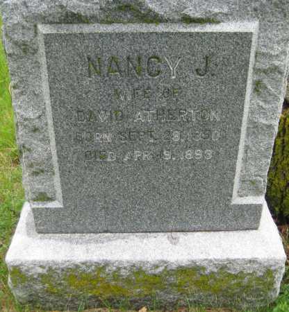 ATHERTON, NANCY J. - Saline County, Nebraska | NANCY J. ATHERTON - Nebraska Gravestone Photos