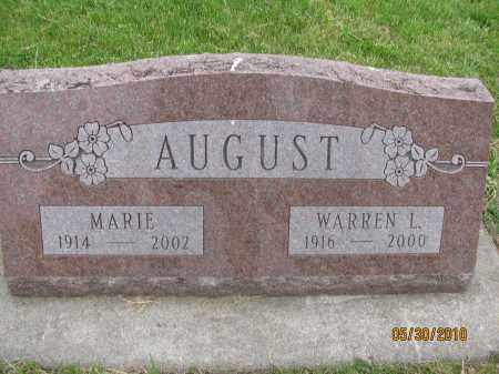 AUGUST, MARIE - Saline County, Nebraska | MARIE AUGUST - Nebraska Gravestone Photos