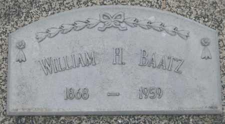 BAATZ, WILLIAM H. - Saline County, Nebraska | WILLIAM H. BAATZ - Nebraska Gravestone Photos