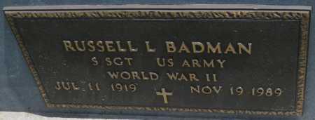 BADMAN, RUSSELL L. - Saline County, Nebraska | RUSSELL L. BADMAN - Nebraska Gravestone Photos