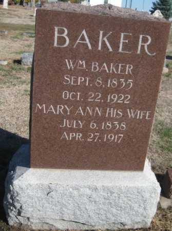 BAKER, WILLIAM - Saline County, Nebraska | WILLIAM BAKER - Nebraska Gravestone Photos