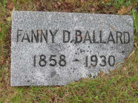 BALLARD, FANNY D. - Saline County, Nebraska | FANNY D. BALLARD - Nebraska Gravestone Photos