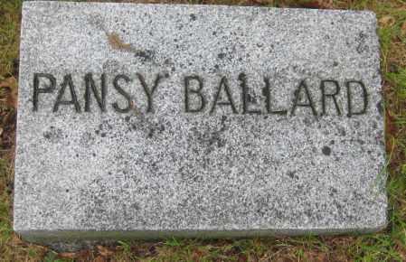 BALLARD, PANSY - Saline County, Nebraska | PANSY BALLARD - Nebraska Gravestone Photos