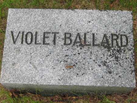 BALLARD, VIOLET - Saline County, Nebraska | VIOLET BALLARD - Nebraska Gravestone Photos