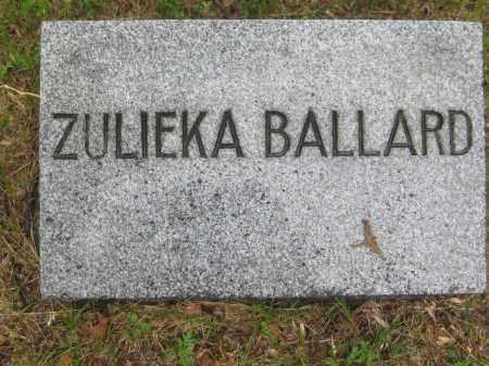 BALLARD, ZULIEKA - Saline County, Nebraska | ZULIEKA BALLARD - Nebraska Gravestone Photos