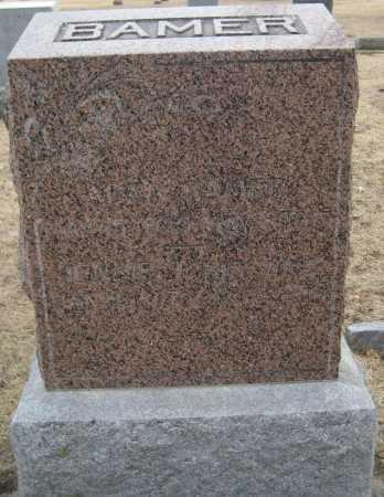 BAMER, JENNIE - Saline County, Nebraska | JENNIE BAMER - Nebraska Gravestone Photos