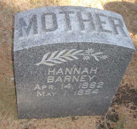 BARNEY, HANNAH - Saline County, Nebraska | HANNAH BARNEY - Nebraska Gravestone Photos