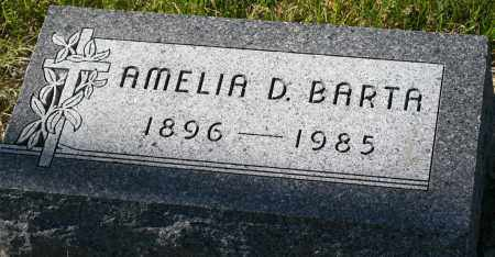 "BARTA, AMELIA D. ""MOLLIE"" - Saline County, Nebraska | AMELIA D. ""MOLLIE"" BARTA - Nebraska Gravestone Photos"