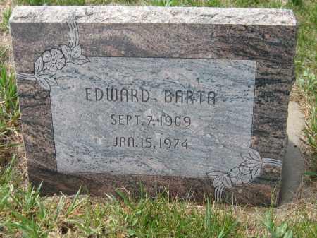 BARTA, EDWARD - Saline County, Nebraska | EDWARD BARTA - Nebraska Gravestone Photos