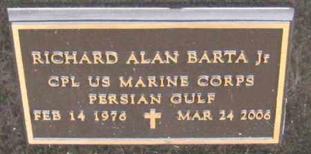 BARTA, RICHARD ALAN JR. - Saline County, Nebraska | RICHARD ALAN JR. BARTA - Nebraska Gravestone Photos