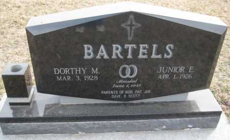 BARTELS, JUNIOR E. - Saline County, Nebraska | JUNIOR E. BARTELS - Nebraska Gravestone Photos