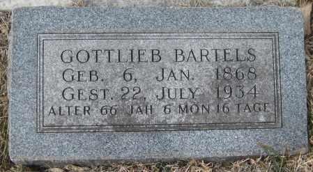 BARTELS, GOTTLIEB - Saline County, Nebraska | GOTTLIEB BARTELS - Nebraska Gravestone Photos