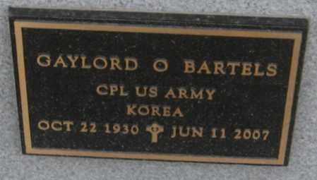 BARTELS, GAYLORD O. - Saline County, Nebraska | GAYLORD O. BARTELS - Nebraska Gravestone Photos
