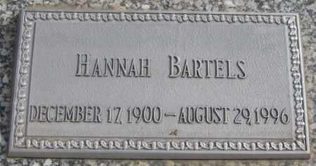 BARTELS, HANNAH - Saline County, Nebraska | HANNAH BARTELS - Nebraska Gravestone Photos