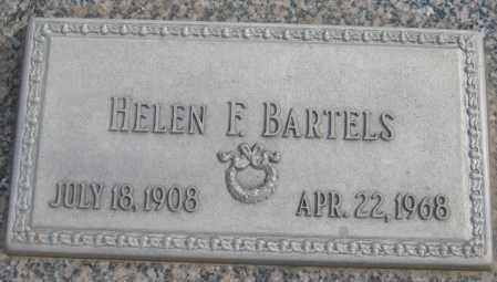 BARTELS, HELEN F. - Saline County, Nebraska | HELEN F. BARTELS - Nebraska Gravestone Photos