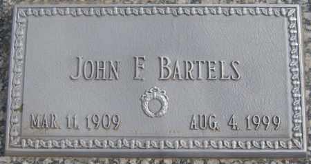 BARTELS, JOHN F. - Saline County, Nebraska | JOHN F. BARTELS - Nebraska Gravestone Photos