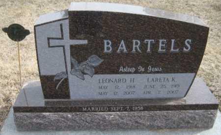 BARTELS, LEONARD H. - Saline County, Nebraska | LEONARD H. BARTELS - Nebraska Gravestone Photos