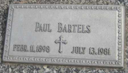 BARTELS, PAUL - Saline County, Nebraska   PAUL BARTELS - Nebraska Gravestone Photos
