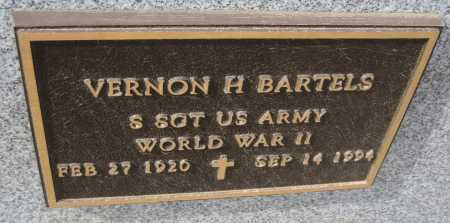 BARTELS, VERNON H. - Saline County, Nebraska | VERNON H. BARTELS - Nebraska Gravestone Photos