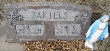 BARTELS, WALTER - Saline County, Nebraska | WALTER BARTELS - Nebraska Gravestone Photos