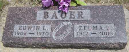 BAUER, ZELMA L. - Saline County, Nebraska | ZELMA L. BAUER - Nebraska Gravestone Photos