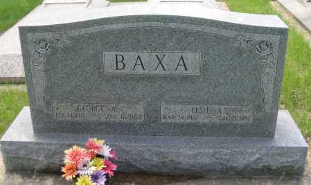 BAXA, ELSIE A. - Saline County, Nebraska | ELSIE A. BAXA - Nebraska Gravestone Photos