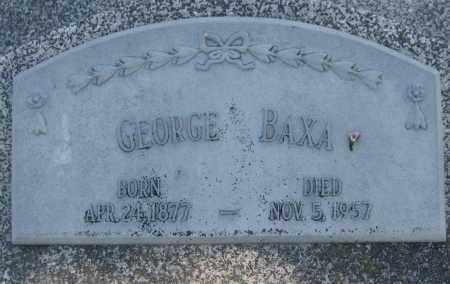 BAXA, GEORGE - Saline County, Nebraska | GEORGE BAXA - Nebraska Gravestone Photos
