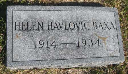 BAXA, HELEN - Saline County, Nebraska | HELEN BAXA - Nebraska Gravestone Photos