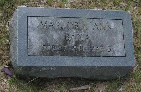 BAXA, MARJORIE ANN - Saline County, Nebraska   MARJORIE ANN BAXA - Nebraska Gravestone Photos