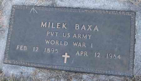 BAXA, MILEK - Saline County, Nebraska | MILEK BAXA - Nebraska Gravestone Photos