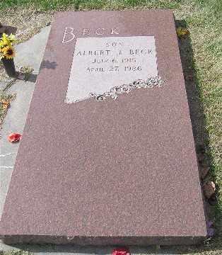 BECK, ALBERT J. - Saline County, Nebraska | ALBERT J. BECK - Nebraska Gravestone Photos