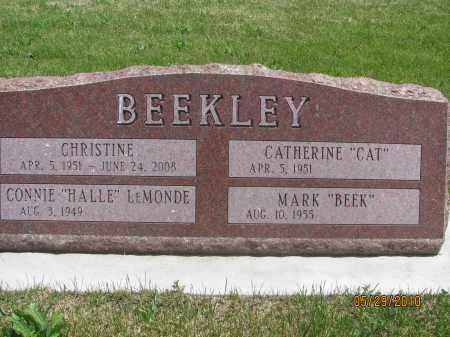 BEEKLEY, CONNIE HALLIE LEMONDE - Saline County, Nebraska | CONNIE HALLIE LEMONDE BEEKLEY - Nebraska Gravestone Photos