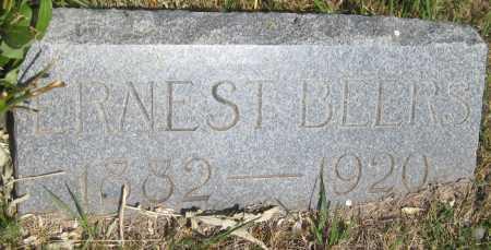 BEERS, ERNEST - Saline County, Nebraska   ERNEST BEERS - Nebraska Gravestone Photos