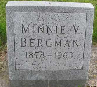BERGMAN, MINNIE V. - Saline County, Nebraska | MINNIE V. BERGMAN - Nebraska Gravestone Photos