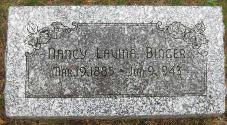 BINGER, NANCY LAVINA - Saline County, Nebraska | NANCY LAVINA BINGER - Nebraska Gravestone Photos