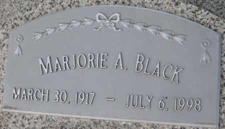 BLACK, MARJORIE A. - Saline County, Nebraska | MARJORIE A. BLACK - Nebraska Gravestone Photos
