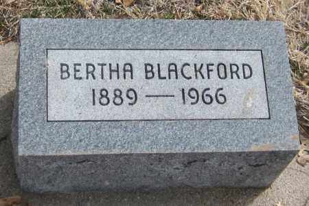 BLACKFORD, BERTHA - Saline County, Nebraska | BERTHA BLACKFORD - Nebraska Gravestone Photos