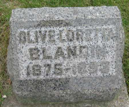 BLANDIN, OLIVE LORETTA - Saline County, Nebraska   OLIVE LORETTA BLANDIN - Nebraska Gravestone Photos