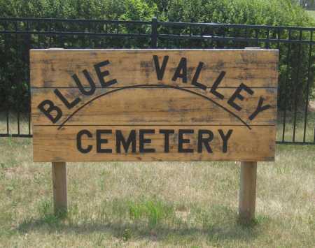 *BLUE VALLEY CEMETERY, ENTRANCE - Saline County, Nebraska | ENTRANCE *BLUE VALLEY CEMETERY - Nebraska Gravestone Photos