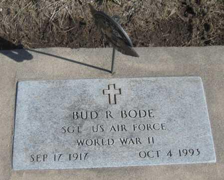 BODE, BUD R. - Saline County, Nebraska | BUD R. BODE - Nebraska Gravestone Photos