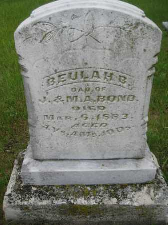 BOND, BEULAH B. - Saline County, Nebraska | BEULAH B. BOND - Nebraska Gravestone Photos