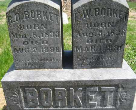 BORKET, F. W. - Saline County, Nebraska | F. W. BORKET - Nebraska Gravestone Photos