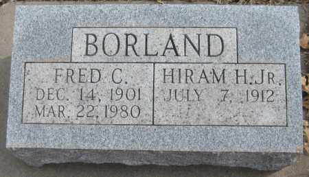 BORLAND, HIRAM H. JR. - Saline County, Nebraska | HIRAM H. JR. BORLAND - Nebraska Gravestone Photos
