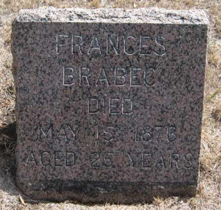 BRABEC, FRANCES - Saline County, Nebraska   FRANCES BRABEC - Nebraska Gravestone Photos