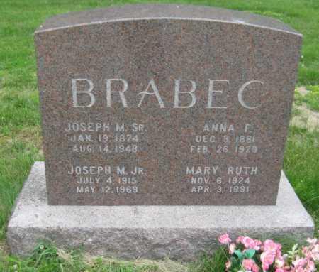 BRABEC, JOSEPH MATEJKA - Saline County, Nebraska   JOSEPH MATEJKA BRABEC - Nebraska Gravestone Photos