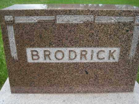 BRODRICK, FAMILY STONE - Saline County, Nebraska | FAMILY STONE BRODRICK - Nebraska Gravestone Photos