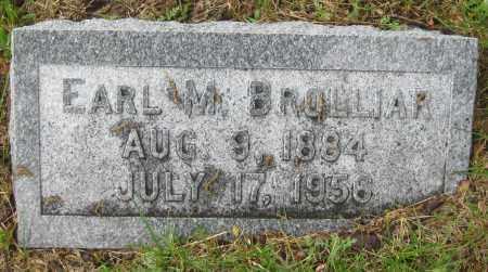 BROLLIAR, EARL M. - Saline County, Nebraska   EARL M. BROLLIAR - Nebraska Gravestone Photos